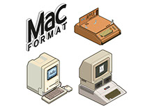 Retro Apple Sticker Illustrations: MacFormat Magazine