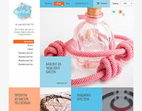 Дизайн сайта для рукодельницы по бисеру Марины