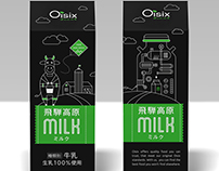 Milk package for Oisix