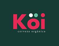 Creación de marca Köi, Cerveza Orgánica, Branding.