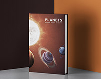 Planets of the solar system book design concept