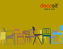 Catalog Design & Shooting / Decosit Chair & Table