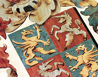 Ruttkay Family Crest – Marquetry picture