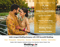 Newspaper Ad Campaign in Times of India for Weddingz.in