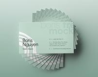Free PSD Simple Business Card Showcase Mockup