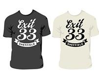 Exit 33 T Shirt Designs