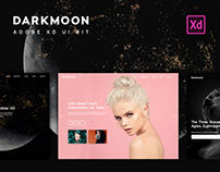 Darkmoon UI Kit for Adobe XD. UI & UX Design