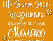LHF Bounce Script with cyrillic (с кириллицей)