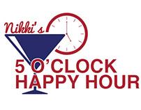 Nikki's 5 O'clock Happy Hour Logo