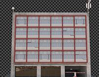 Building in low cost poor area
