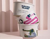 Rolling island ice cream