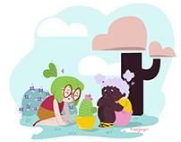 Os Cactos de Violeta - Concepts livro infantil