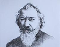Strauss and Brahms - portraits