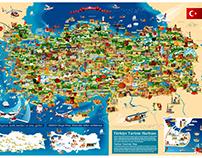 Turkey Cartoon Map