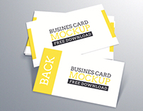 Freebie- Business Card Mockup Vol. 02