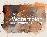 12 Free Abstract Watercolor Brushes