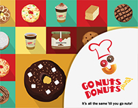 GoNuts Donuts Packaging Design