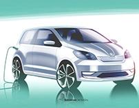 Press sketch - Škoda Citigo-e iV