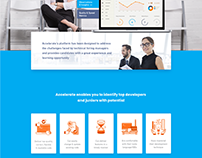 Accelerate.io Landing Page Design