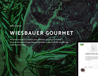 Wiesbauer Gourmet Website Redesign
