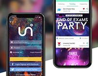 Event App | Unisocial : Case Study