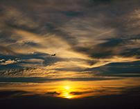 Sunset in Danube Delta, Romania
