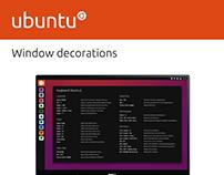 Ubuntu Window Decorations