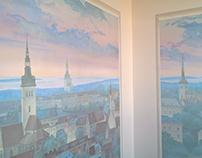 "interior mural ""Old Tallinn"""
