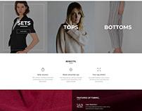 Homepage Design Thermalwear Brand - simplePlan Media