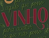 Lettering: Café e Vinho