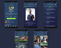 Outdoor Sports management mobile application design.