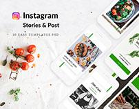 Food - social media, templates, instagram posts/stories