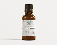 Euro Dropper Bottle MockUp