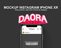Mockup Instagram Iphone Xr