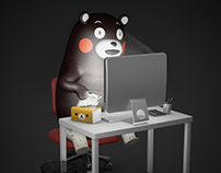 Kumamon's real daily life