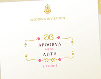 Wedding Invite - Apoorva + Ajith