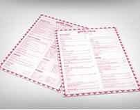 Pink Taco Menu Design