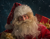 Santa painted in Adobe Photoshop CC