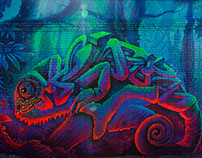 """""""chameleon"""" street art in Ekaterinburg"""