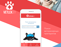 Mobile App for searching veterinary medicines