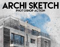 Archi Sketch Photoshop Action