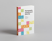 'Demography of Indonesia's Ethnicity' book cover design