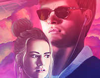 BABY DRIVER | Movie Poster/Digital painting + timelapse
