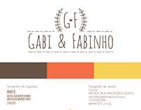 Identidade Visual - Casamento Gabi e Fabinho