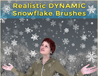 HD Realistic DYNAMIC Snowflake Brushes for Photoshop