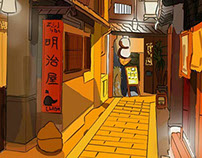 Animation Environment - Meiji House