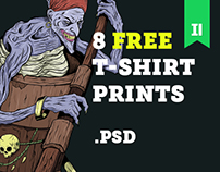 T-shirt prints. Free PSD