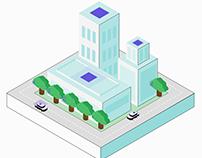 IOT Project - Motion illustration - City