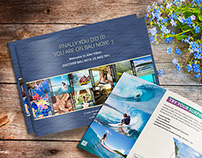 Prinrted catalog design, renting a villa on Bali