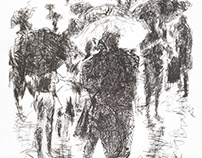 "A series of etchings ""Rain"""
